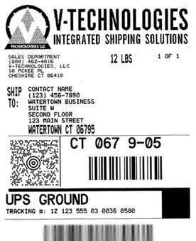 shipping software branded label